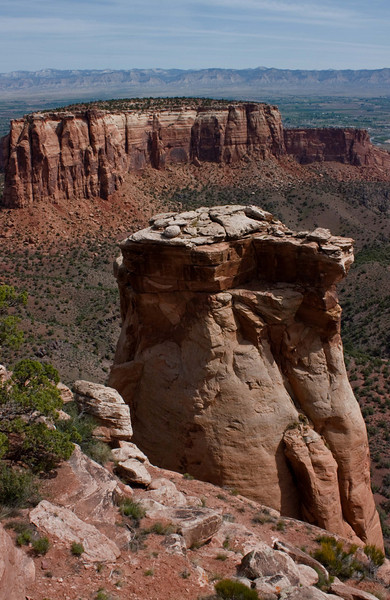 Broken formations at Colorado National Monument.<br /> Photo © Carl Clark