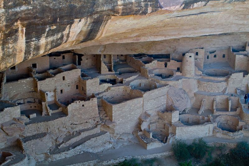 Intricate architecture at Cliff Palace in Mesa Verde.<br /> Photo © Carl Clark