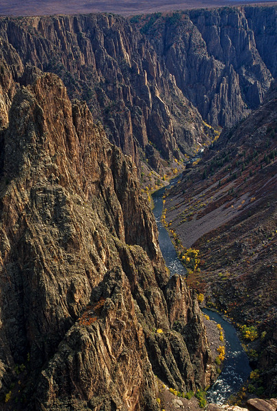Colorado's Black Canyon of the Gunnison rivals the Grand Canyon in jaw-dropping scenes like this.<br /> Photo © Cindy Clark