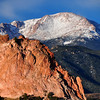 Pikes Peak at the Garden of the Gods