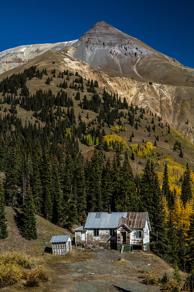 An old mining shack at Red Mountain Pass.<br /> Photo © Carl Clark