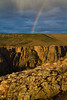 A rainbow over the pot of gold known as Black Canyon of the Gunnison.<br /> Photo © Carl Clark