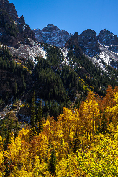 Gorgeous fall color near Aspen.<br /> Photo © Cindy Clark