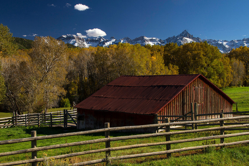 Can't resist these old barns.  This one on Highway 62, getting near Telluride.<br /> Photo © Cindy Clark