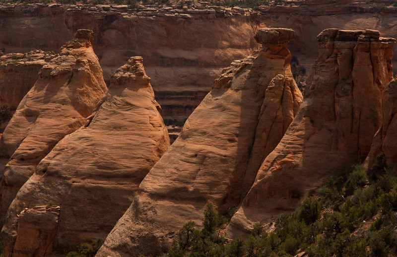 A geological oddity in the Colorado National Monument - the Coke Ovens.<br /> Photo © Cindy Clark