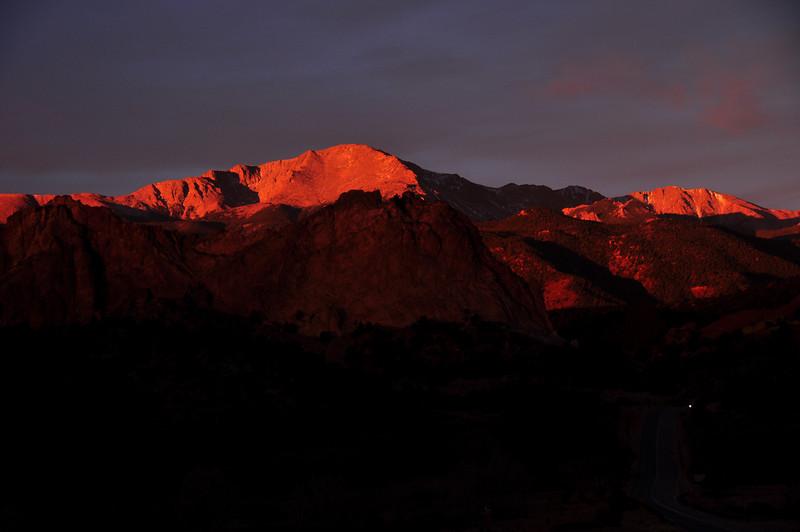 Pikes Peak at Sunrise