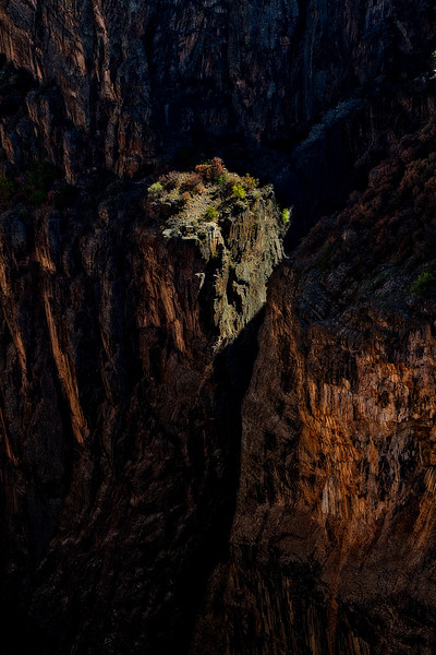 Spotlight on a tower at Black Canyon.<br /> Photo © Carl Clark