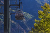 A cyclist makes use of the Telluride gondola.<br /> Photo © Carl Clark