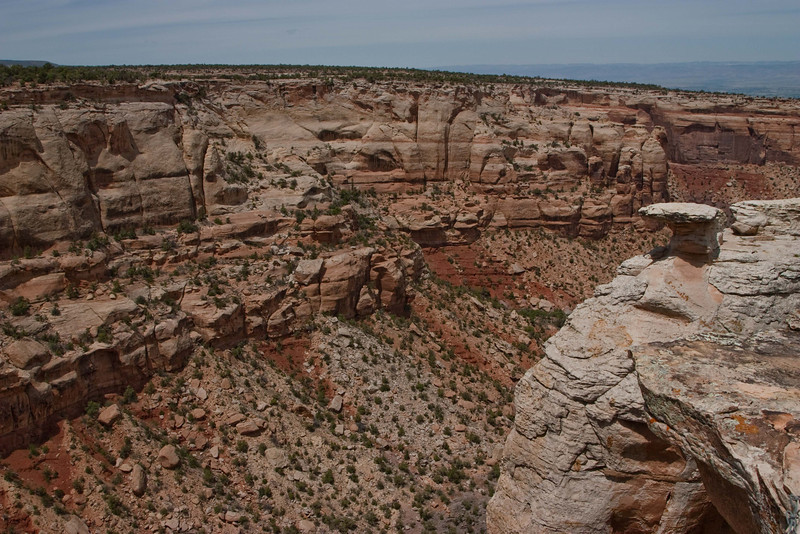 The curve of Ute Canyon at Colorado National Monument.<br /> Photo © Carl Clark