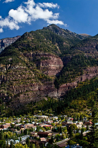The classic mountain village of Ouray.<br /> Photo © Carl Clark