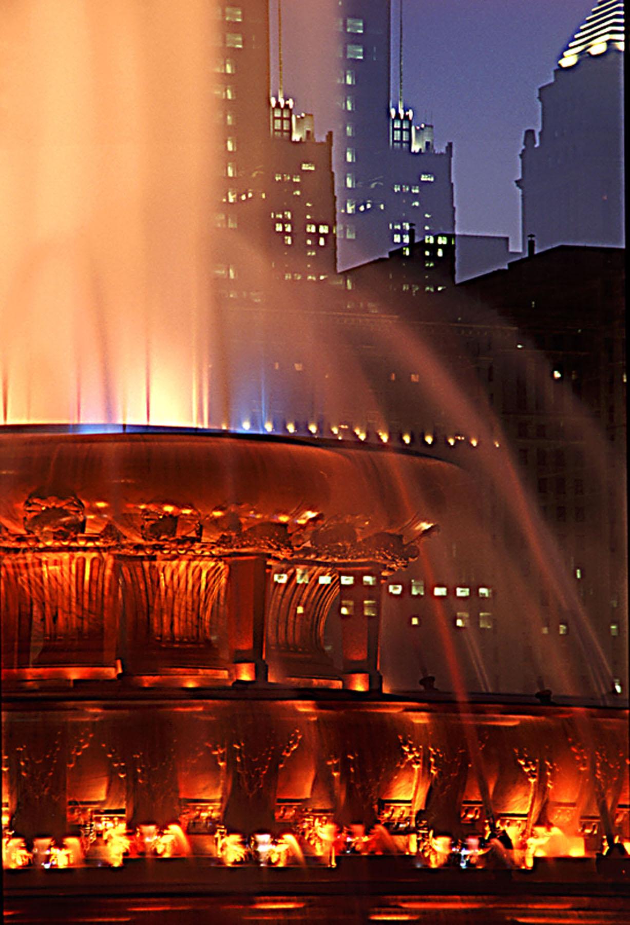 Buckingham fountain closeup