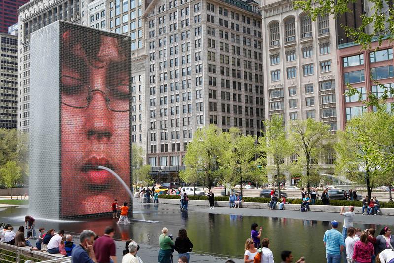 Crown Fountain, Millennium Park, Chicago
