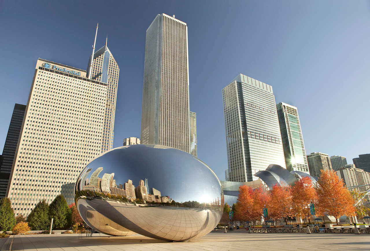 Chicago Bean on a crisp fall morning