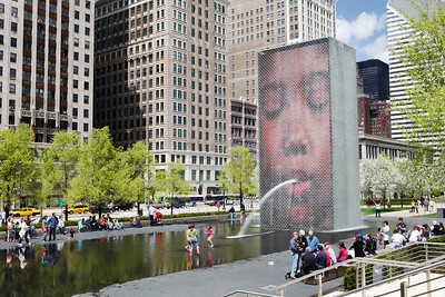 Crown Fountain 2, Millennium Park, Chicago