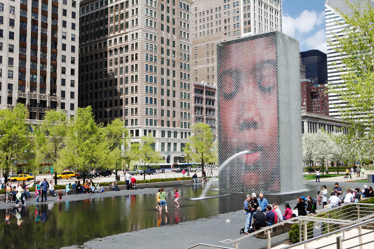 Crown Fountain 2, Millennium Park, Chicago