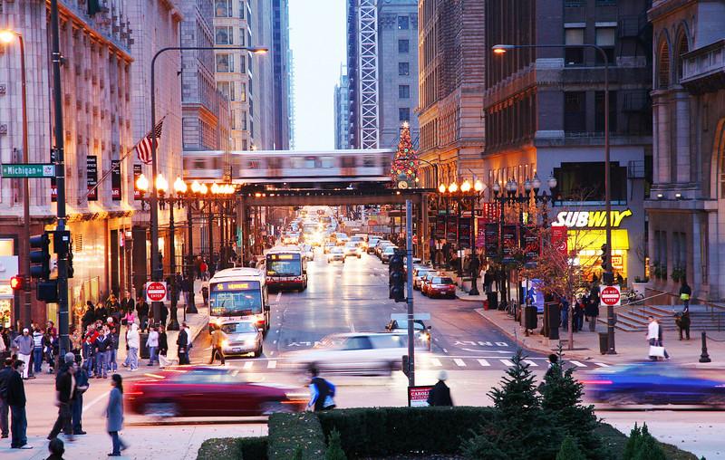 Chicago holiday scene