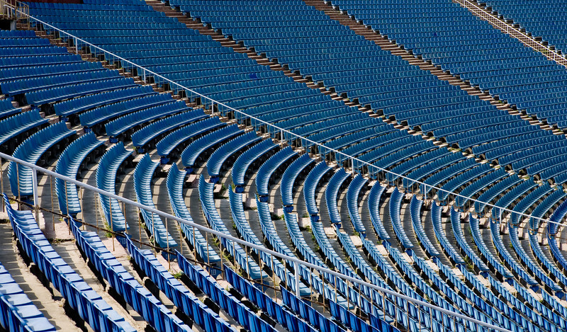 Seating at the Tofik Behramov Stadium Baku