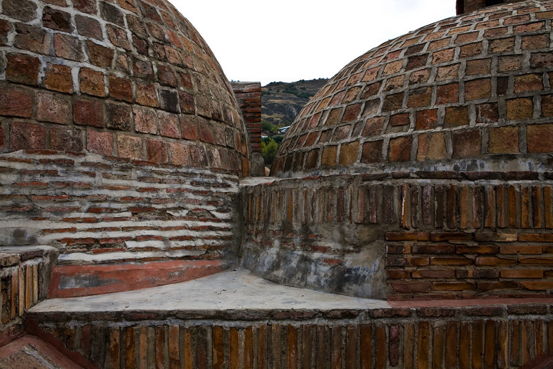 Turkish Bath domes in Old City, Tbilisi
