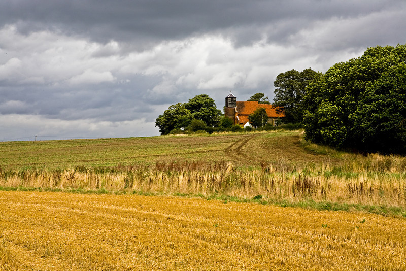 Landscape featuring St Mary's Church, Buttsbury, Essex