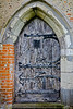 Old wooden door at St Mary's Churh, Buttsbury, Essex