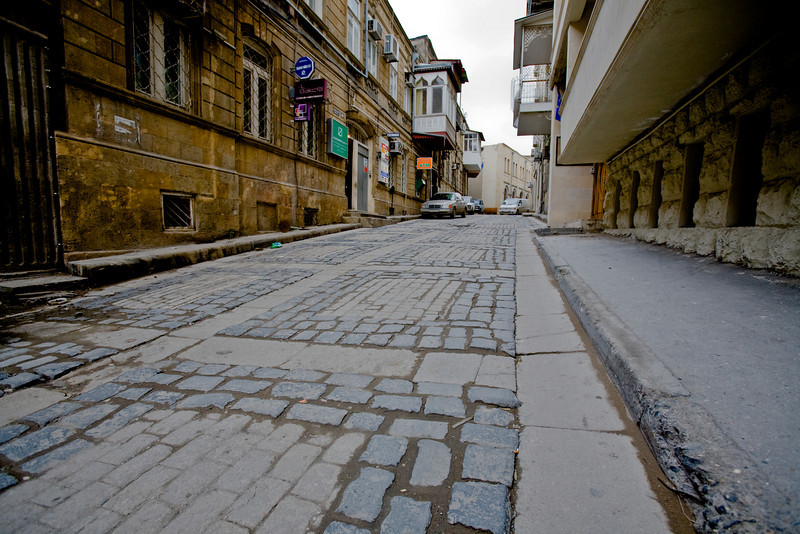 A street in the Old City, Baku