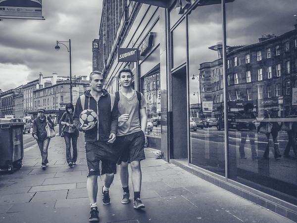 Footballers in Edinburgh