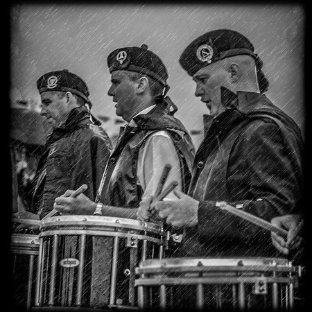 Drummers in the Rain
