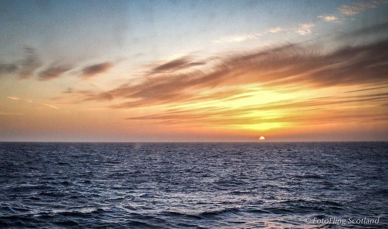 Sunset over North Sea