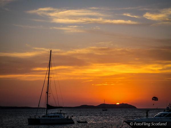Sunset over Conillera