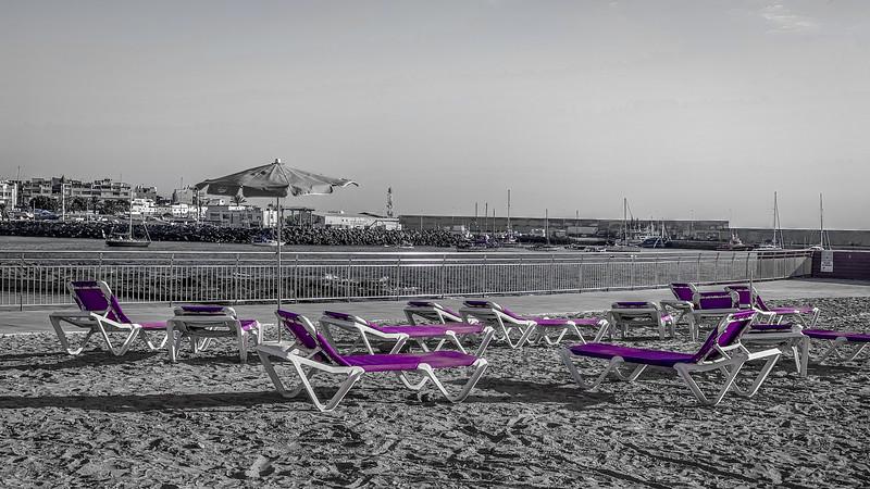 Purple Sun Loungers