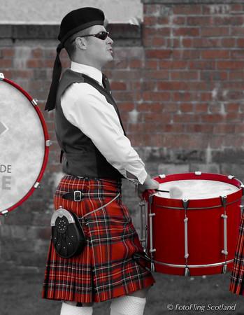 Red Kilted Drummer