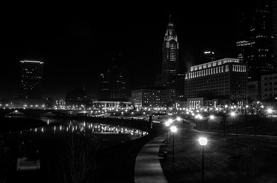 Scioto Mile Night lights