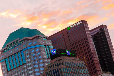 Sun Sets on Columbus Banks