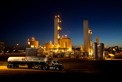 Air Products truck and plant in Chandler, Arizona