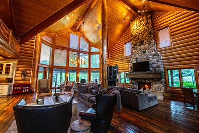Interior focus family room in picturesque Hobble Creek Lodge, UT. 2018