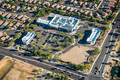 Aerial photo Walmart store for corporate marketing, Arizona