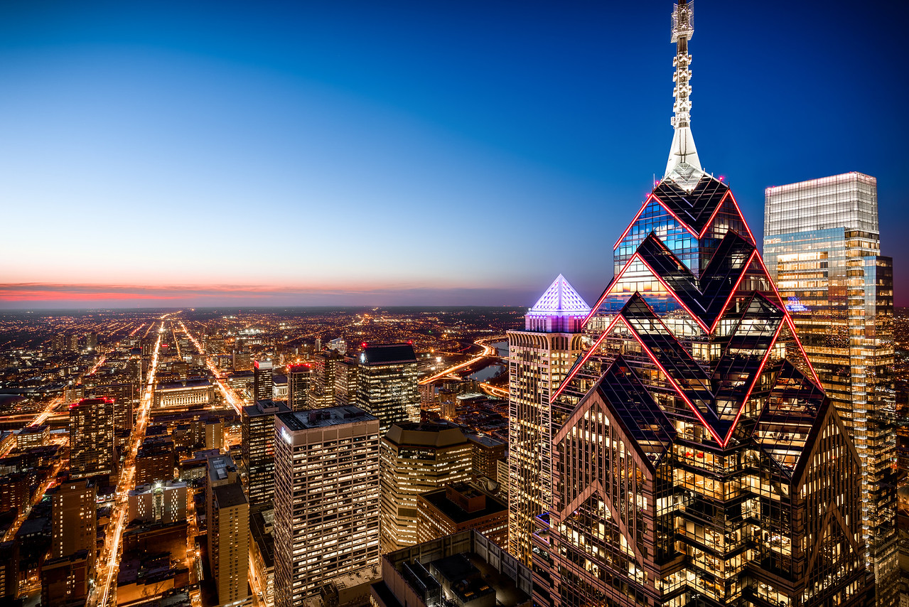 """Commercial Architecture Skyline Photography in Philadelphia for Dranoff Properties and iStar Residential.  Two Liberty  <a href=""""http://www.TwoLiberty.com"""">http://www.TwoLiberty.com</a>"""