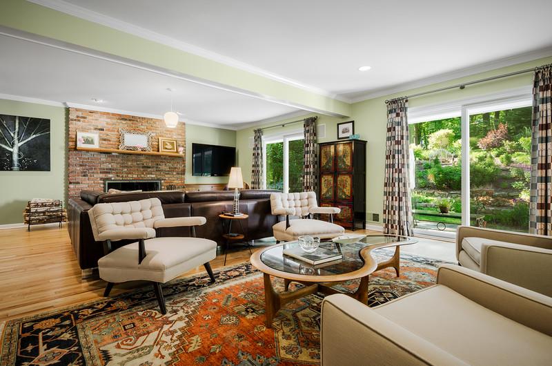Residential Interior Living Photography Kienlen Lattmann Sotheby's International Realty in Bernadsville, New Jersey