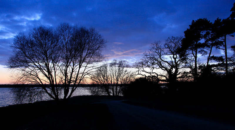 Sunset over Rutland Water - Barnsdale - March 2010