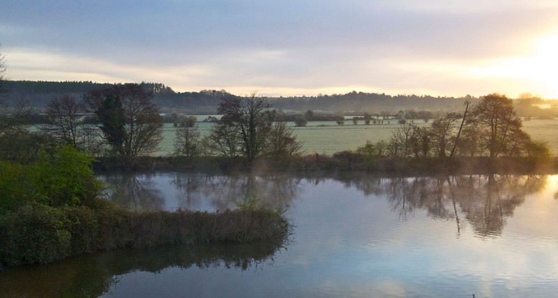 First photo taken with the new Canon S100. Not bad, considering this was shot through the window of a moving train.