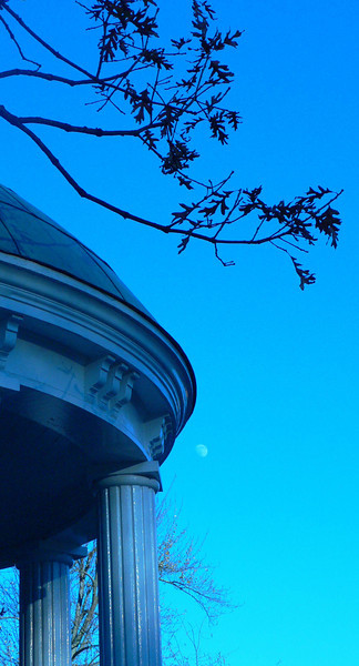 Moon over Old Well
