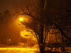 Snowfall by Street Lamp