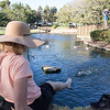 Enjoying the Ducks at Tewinkle Park in Costa Mesa CA