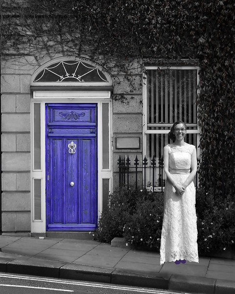 Jessie with Purplbe Door