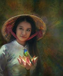 Glowing Lotus Girl