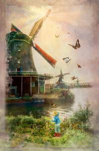 Dutch Windmill Red Boots