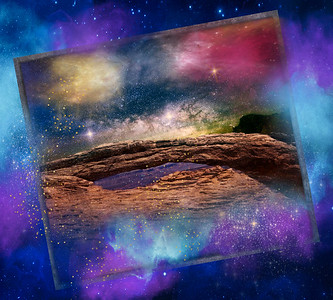 Mesa Arch Galaxy Composite 1