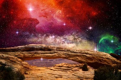 Mesa Arch Galaxy Composite 2
