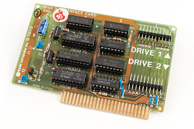 Apple ][ EuroPlus S/N IA252-696305. Disk ][ interface card.