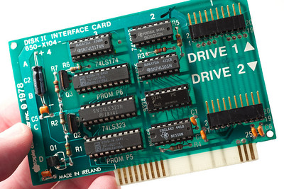 Apple ][ pictures.  DISK ][ INTERFACE CARD, 1978.